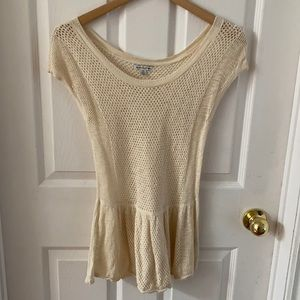 American Eagle Knitted Short Sleeve Top